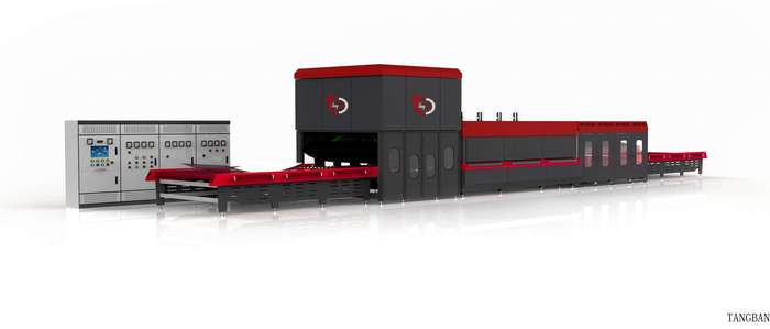 Horizontal Top Convection Flat and Bent Glass Tempering Furnace (Hard shaft)